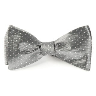 Mini Dots Grey Bow Tie