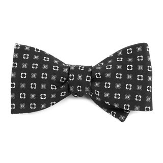 Steady Bloom Black Bow Tie
