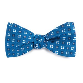 Steady Bloom Serene Blue Bow Tie