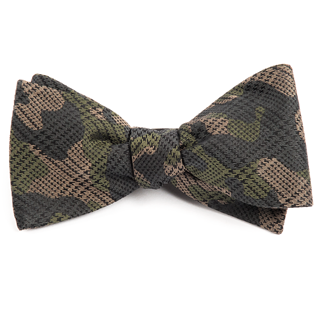 Caliber Camo Moss Green Bow Tie
