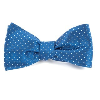 Mini Dots Classic Blue Bow Tie