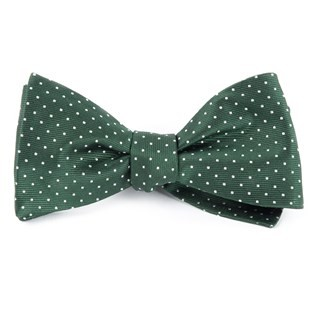 Mini Dots Hunter Green Bow Tie
