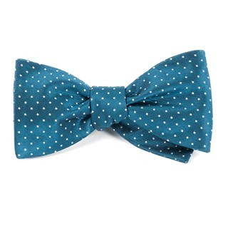 Mini Dots Teal Bow Tie