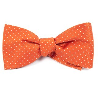 Mini Dots Orange Bow Tie