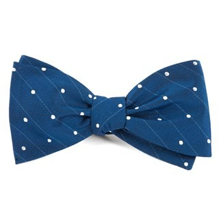 Ringside Dots Classic Blue Bow Tie