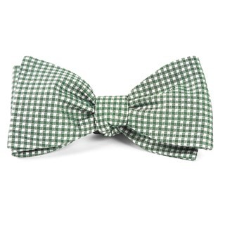 Bahama Checks Hunter Green Bow Tie