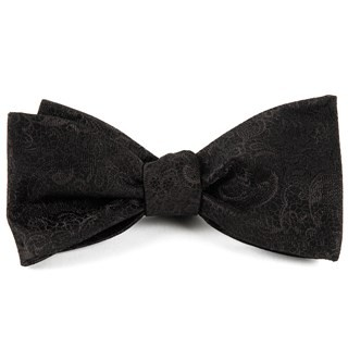 Ceremony Paisley Black Bow Tie