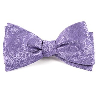 Ceremony Paisley Lilac Bow Tie
