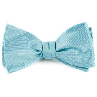 Mini Dots Pool Blue Bow Tie