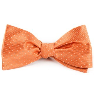 Mini Dots Tangerine Bow Tie