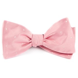 Satin Dot Baby Pink Bow Tie