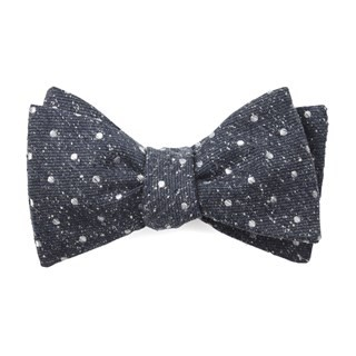 Knotted Dots Navy Bow Tie