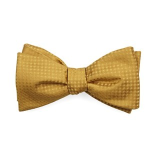 Check Mates Mustard Bow Tie