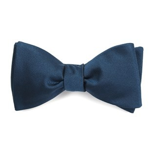 Grosgrain Solid Teal Bow Tie