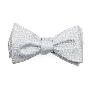 Opulent Light Silver Bow Tie