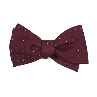 Geo Key Burgundy Bow Tie