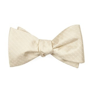 Mini Dots Light Champagne Bow Tie