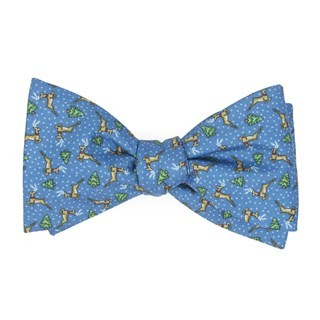 Christmas Fleet Serene Blue Bow Tie