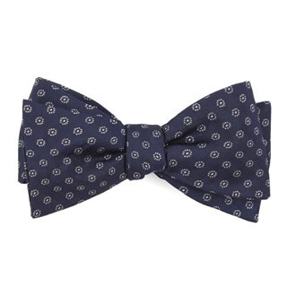 Eagle Eye Medallion Navy Bow Tie