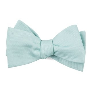 Grosgrain Solid Spearmint Bow Tie