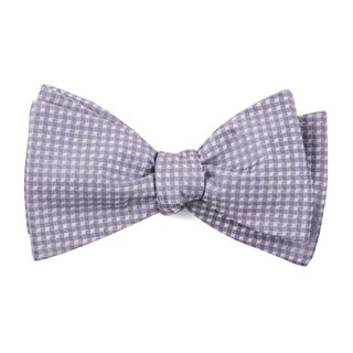 Be Married Checks Lavender Bow Tie