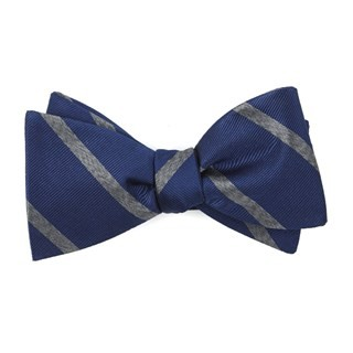 Wheelhouse Stripe Navy Bow Tie