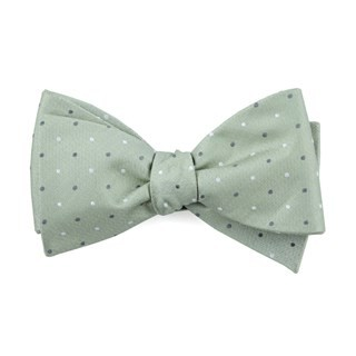 Suited Polka Dots Sage Green Bow Tie