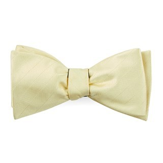 Herringbone Vow Butter Bow Tie