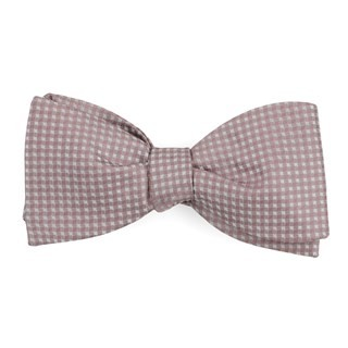 Be Married Checks Mauve Stone Bow Tie