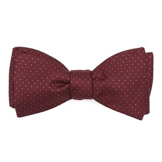 Flicker Burgundy Bow Tie