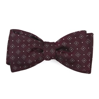 Gemstone Gala Burgundy Bow Tie