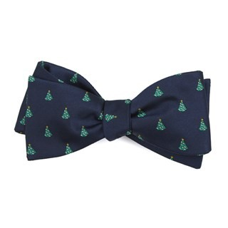 O Christmas Tree Navy Bow Tie