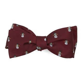 Snowman Goals Red Bow Tie