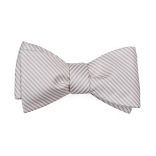 Mumu Weddings - Coastal Stripe Dusty Blush Bow Tie