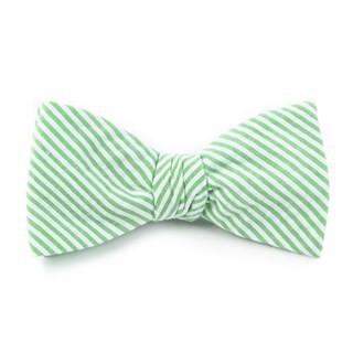 Seersucker Key Lime Bow Tie