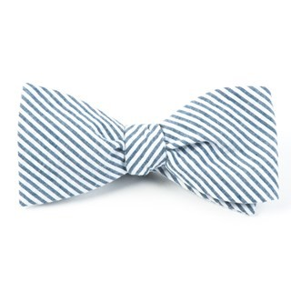 Seersucker Midnight Navy Bow Tie