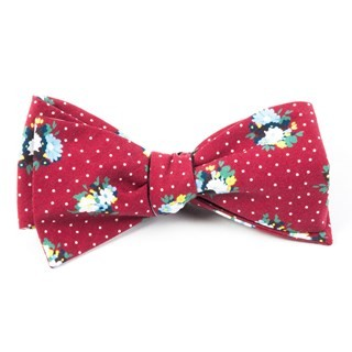 Outland Floral Red Bow Tie