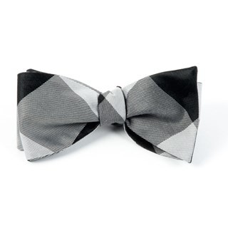 Bison Plaid Black Bow Tie