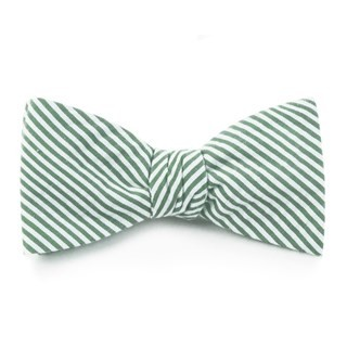Seersucker Hunter Green Bow Tie