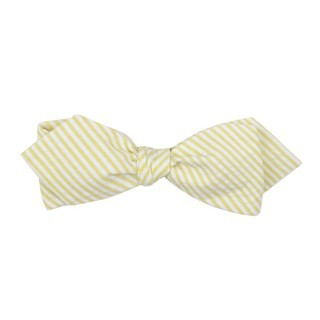 Seersucker Yellow Bow Tie