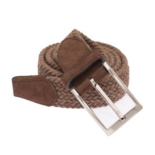 Textured Braided Brown Belt