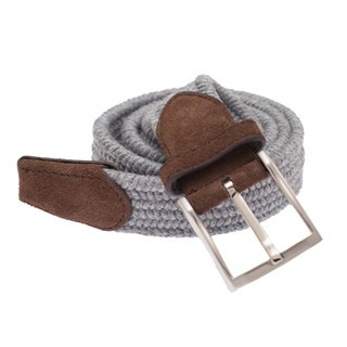 Textured Braided Grey Belt