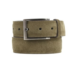 Solid Suede Olive Green Belt
