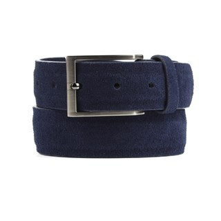 Solid Suede Navy Belt