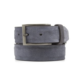 Solid Suede Grey Belt