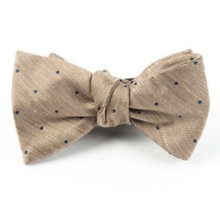 Bulletin Dot Tan Bow Tie