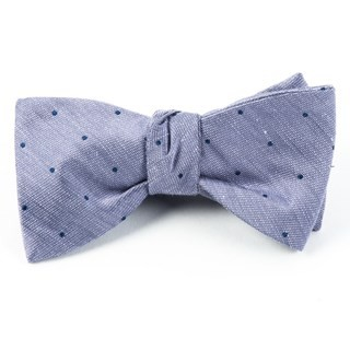 Bulletin Dot Purple Bow Tie