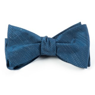 Fountain Solid Deep Serene Blue Bow Tie