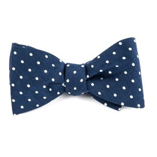 Dotted Dots Navy Bow Tie