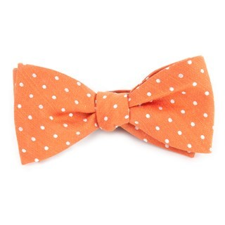 Dotted Dots Orange Bow Tie